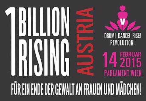 Ankündigung von One Billion Rising Austria